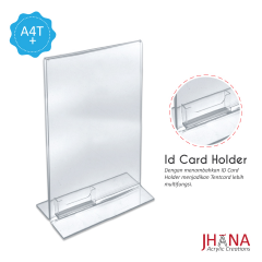 Acrylic Tentcard 01A4 T Plus Id Card Holder - TC01ZA4TP1C