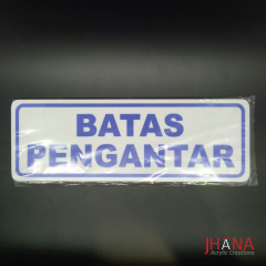 Plat Batas Pengantar 290x100mm - AS11Z05ZZ0C