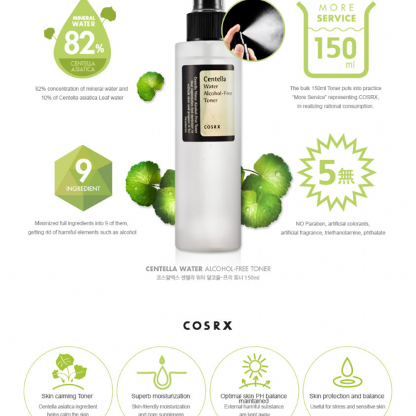 [COSRX] Centella Water Alcohol-Free Toner 150ml