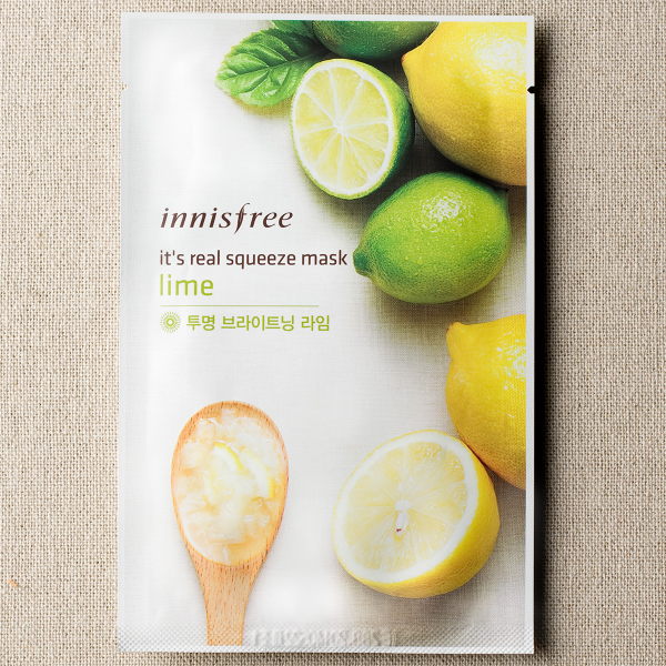 [INNISFREE] It's Real Squeeze Mask #Lime - 1pc