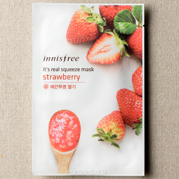 [INNISFREE] It's Real Squeeze Mask #Strawberry - 1pc