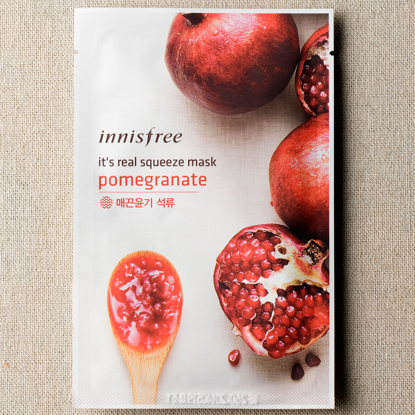 [INNISFREE] It's Real Squeeze Mask #Pomegranate - 1pc