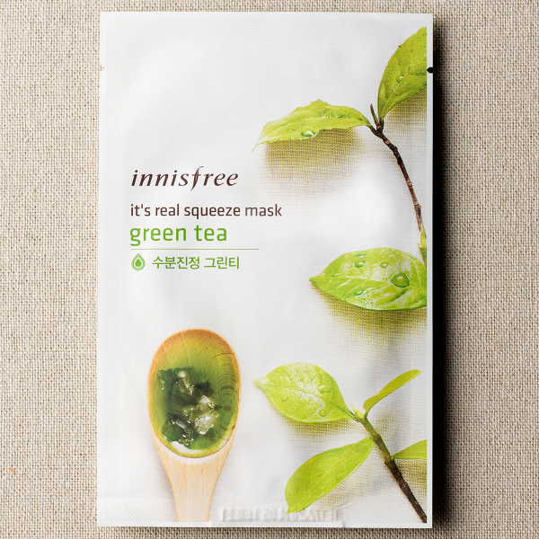 [INNISFREE] It's Real Squeeze Mask #Green Tea - 1pc