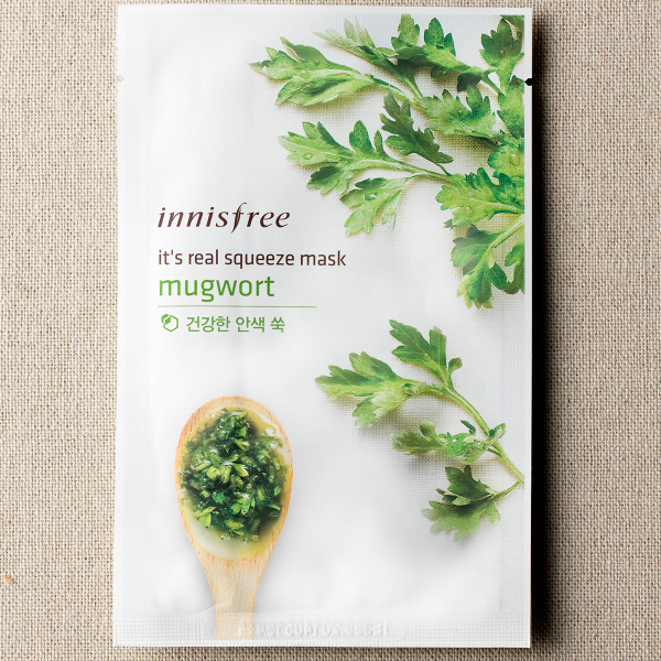 [INNISFREE] It's Real Squeeze Mask #Mugwort - 1pc