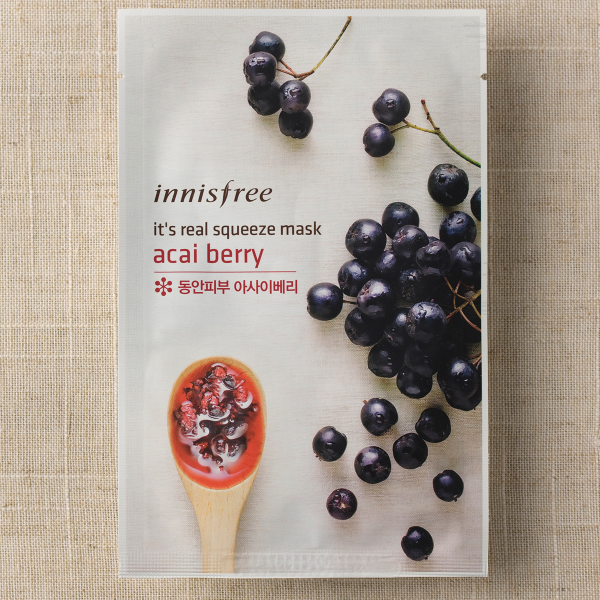 [INNISFREE] It's Real Squeeze Mask #Acai Berry - 1pc