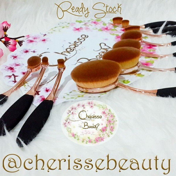 Oval Brush Set #Rose Gold 10Pcs