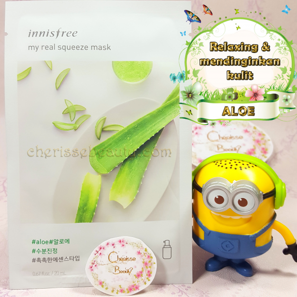 [Innisfree] My Real Squeeze Mask #ALOE