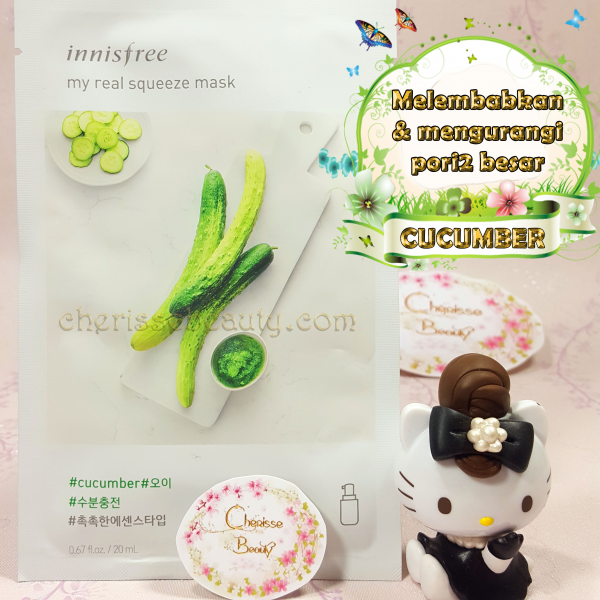 [Innisfree] My Real Squeeze Mask #CUCUMBER