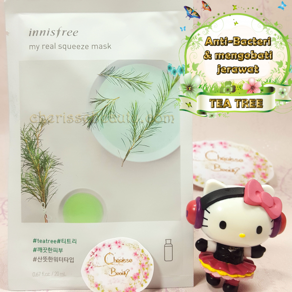 [Innisfree] My Real Squeeze Mask #TEA TREE