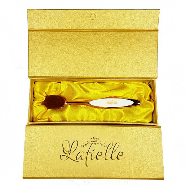 [LAFIELLE] Gold Velvet Oval Brush by