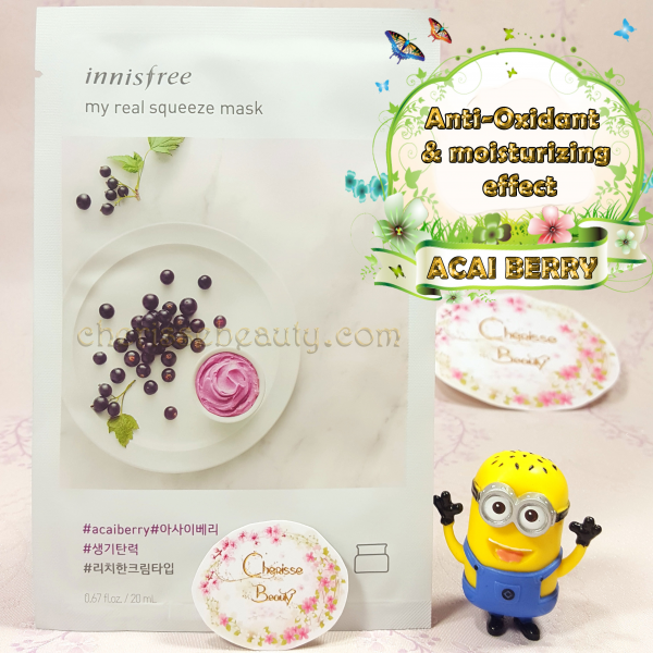 [Innisfree] My Real Squeeze Mask #ACAI BERRY