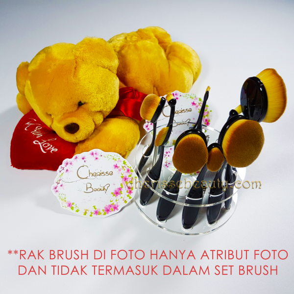 Oval Brush Set BLACK 10pc