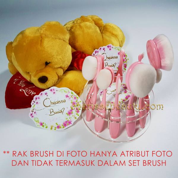 Oval Brush Set Pink 10pcs