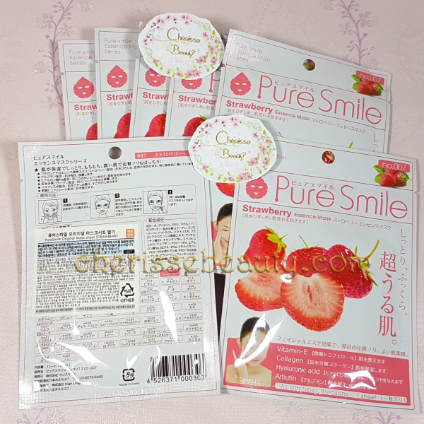 Pure Smile Original Essence Mask #Strawberry