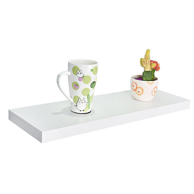 Floating Shelves - 1 Set 3Pcs Rak Dinding Minimalis - Putih - Panjang 30cm