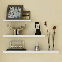 Floating Shelves - 1 Set 3Pcs Rak Dinding Minimalis - Putih - Panjang 40cm-30cm-20cm