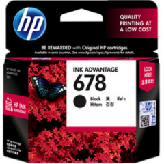 Tinta HP 678 Black Ink Catridge Printer