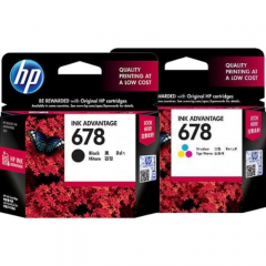 1 Set Tinta HP 678 BK dan CL