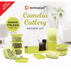Wadah Snack dan Bumbu Technoplast Camelia Cutlery Holder Set
