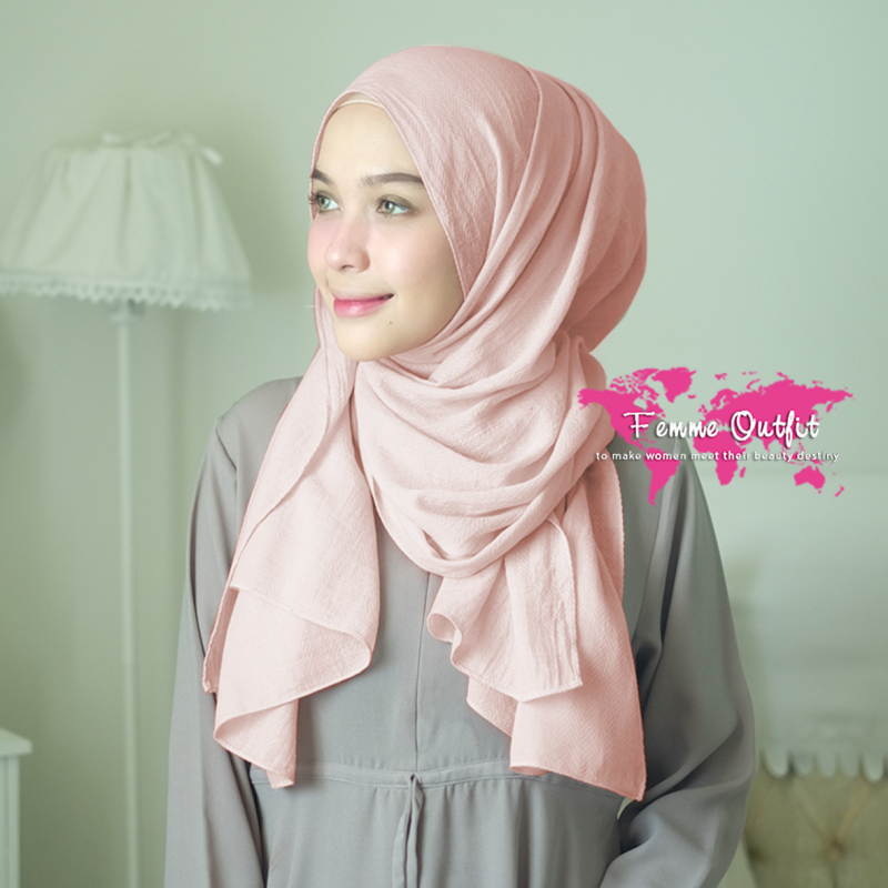 Azzura Shawl Pashmina Light Pinky Peach