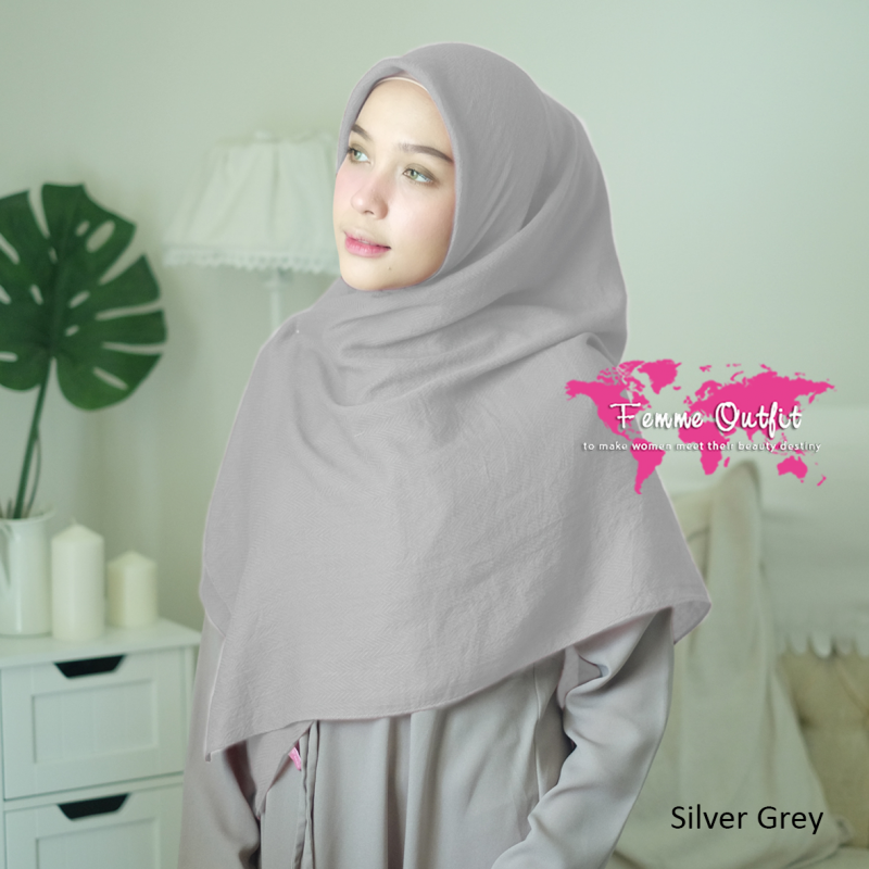 Azzura Shawl Square Silver Grey