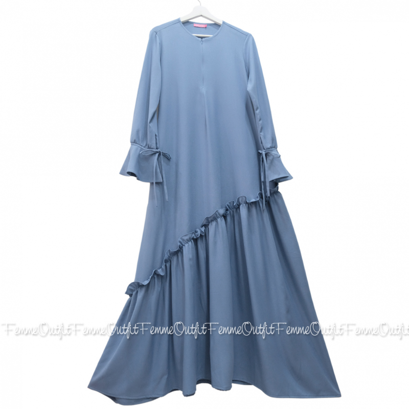 Fatihah Dress Sweet Blue XL