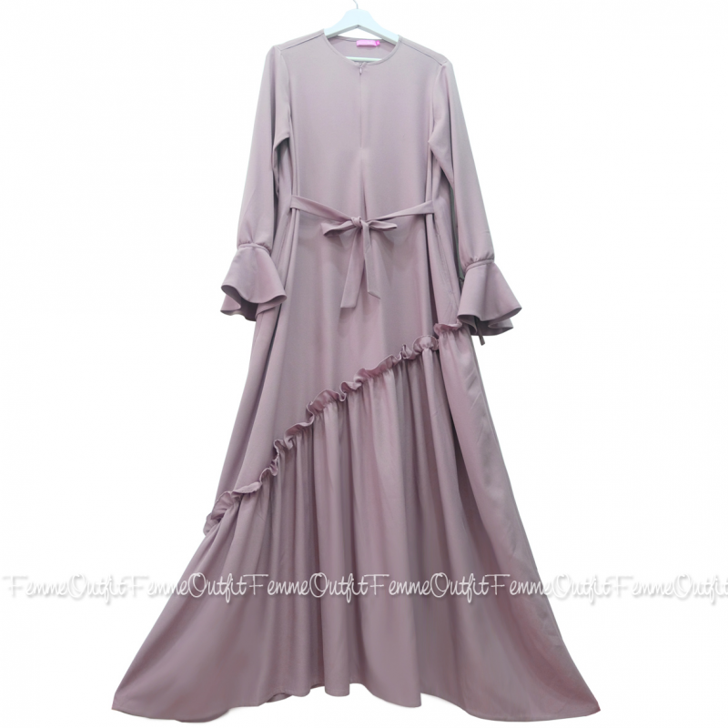 Fatihah Dress Smoke Lavender S