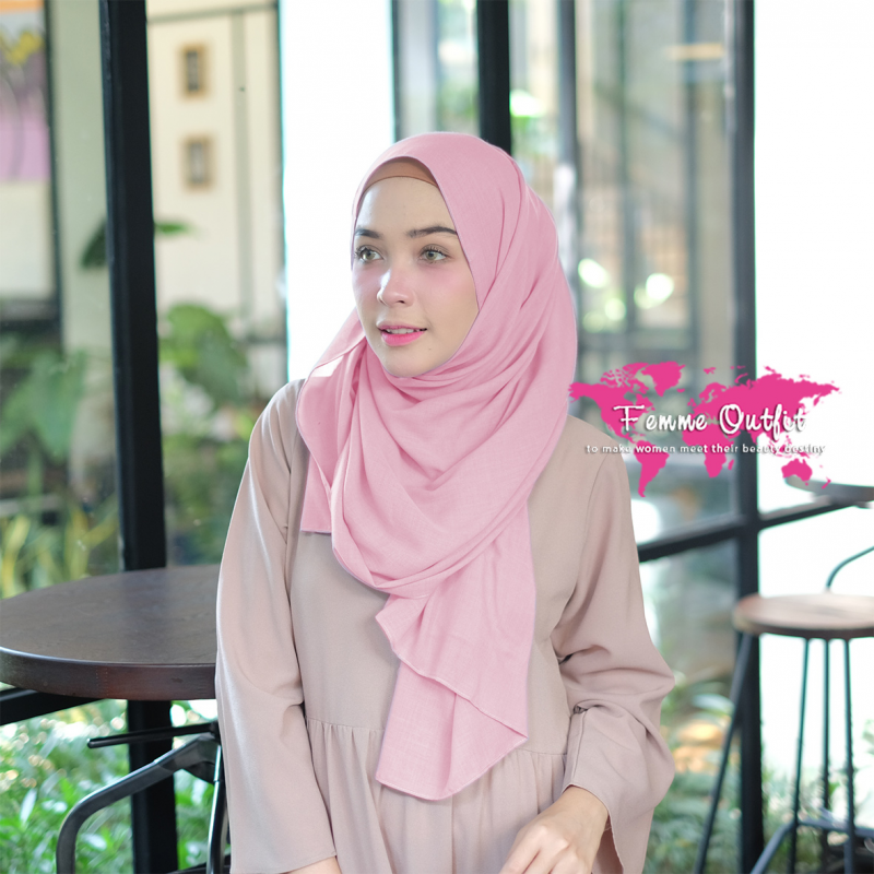 Kyara Shawl Pashmina Light Dusty Pink