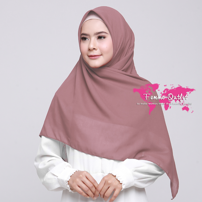 Alicia Shawl Square Deep Dusty Pink