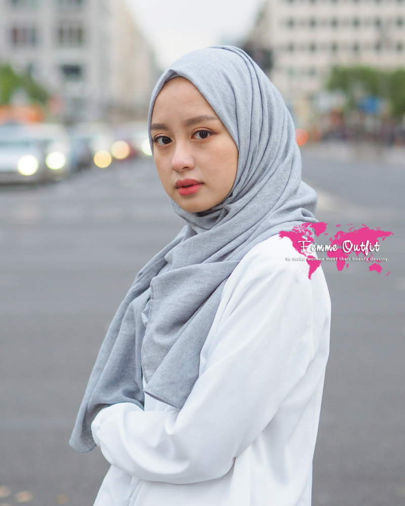 Alexa Shawl Pashmina Light Grey