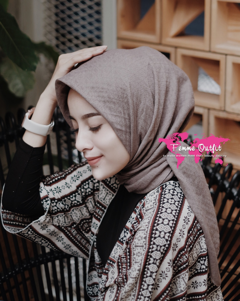 Alexa Shawl Square Dusty Chocolate