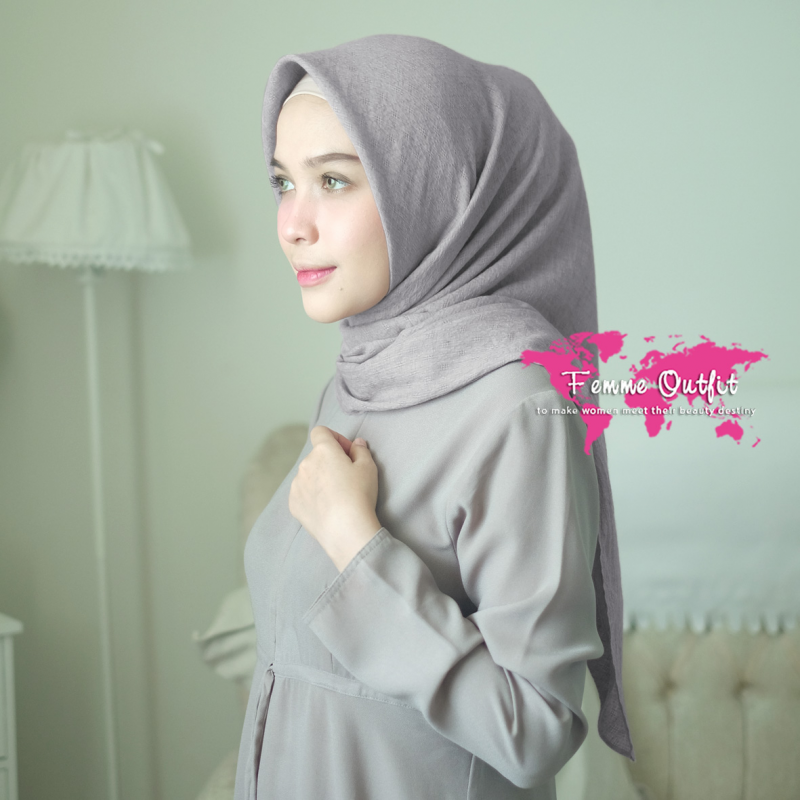 Alexa Shawl Square Italian Grey