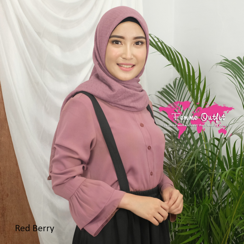 Alexa Shawl Square Red Berry