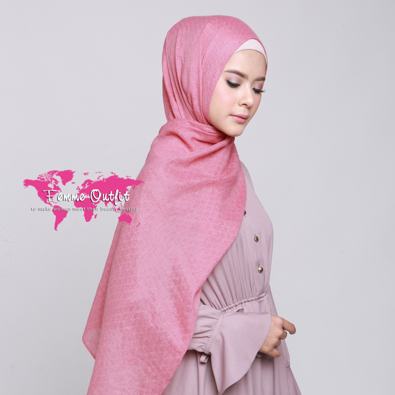 Alynda Shawl Pashmina Deep Strawberry