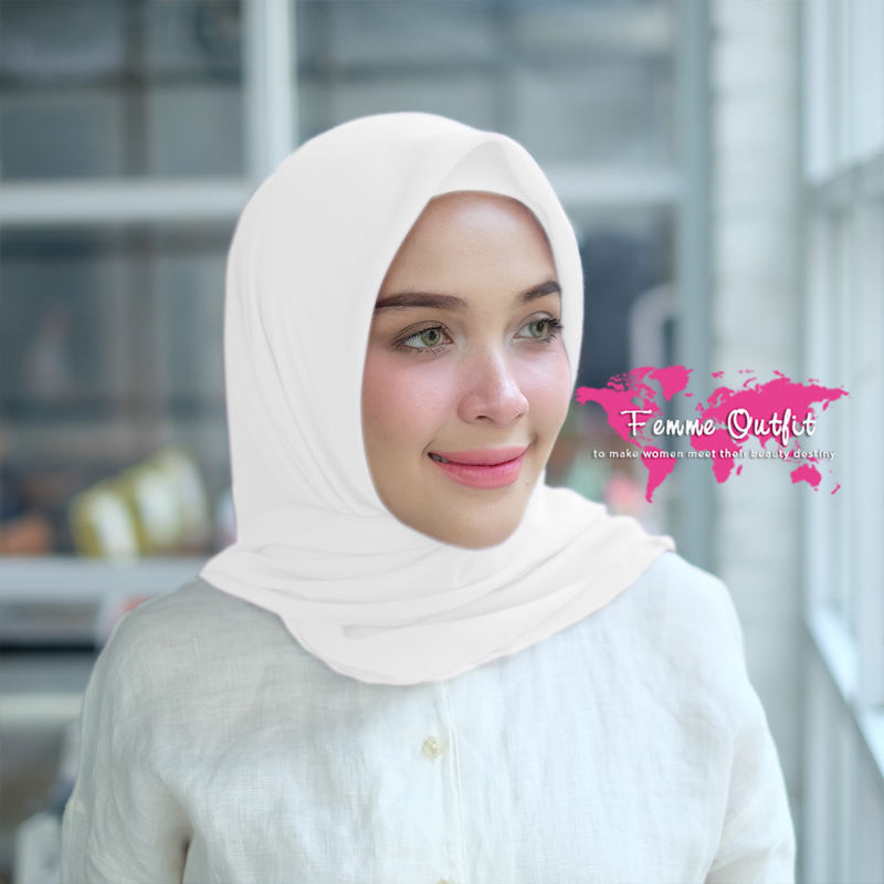 Kyara Shawl Square Broken White