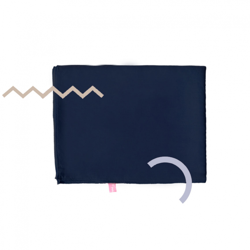 Kyara Shawl Square Deep Navy Blue