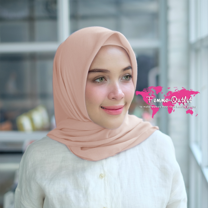 Kyara Shawl Square Dusty Peach