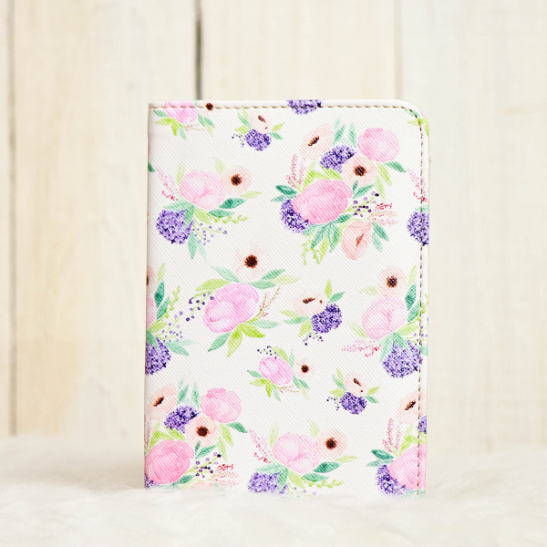 Purple Blossom Passport Cover