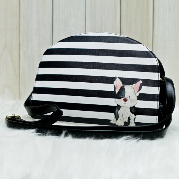 French Bulldog Halfmoon Bag