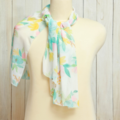 Scarf  Flower Sweet baby Blue