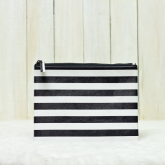 Black & White Stripes Olivia Pouch