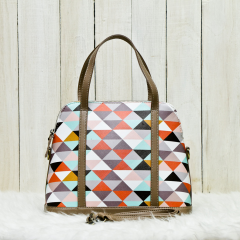Brown Triangle Satchel Bag