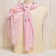 Scarf Cat Collection Chiffon Pink