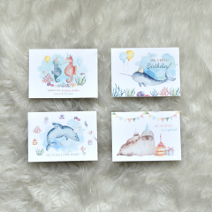 Aquatic Birthday Cards (Folded)