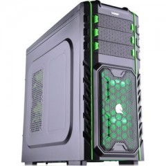 Dazumba D-Vito 911 Full Tower PC Gaming Case - No PSU (Black)