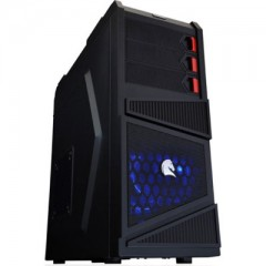 Dazumba D-Vito 781 Mid Tower PC Gaming Case - No PSU (Black)