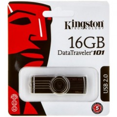 Kingston DataTraveler 101 G2 16GB - USB 2.0 Flash Drive (Black)