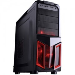 Dazumba D-Vito 806 Mid Tower PC Gaming Case - No PSU (Black)