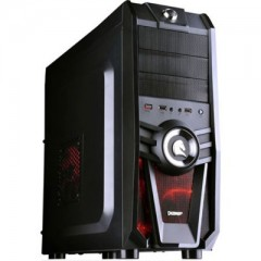 Dazumba D-Vito 807 Mid Tower PC Gaming Case - No PSU (Black)