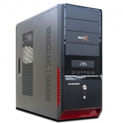 Simbadda SIM X S2636 Mid Tower PC Case - 380W PSU (Black)